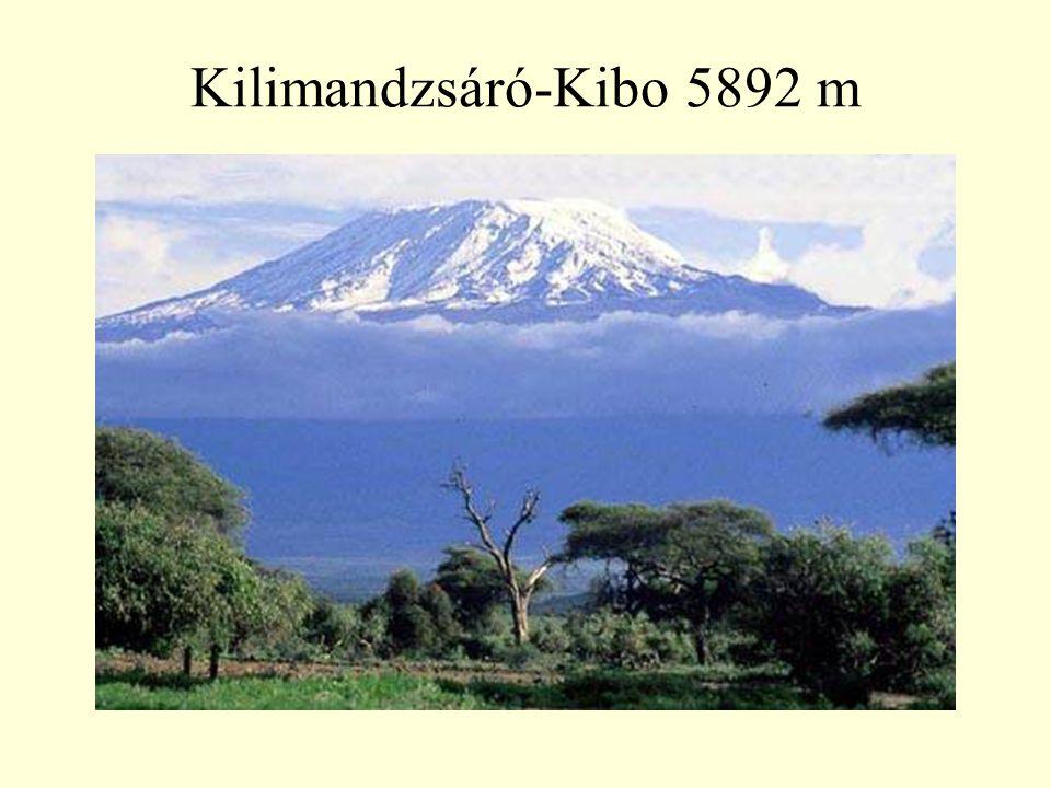 Kilimandzsáró-Kibo 5892 m