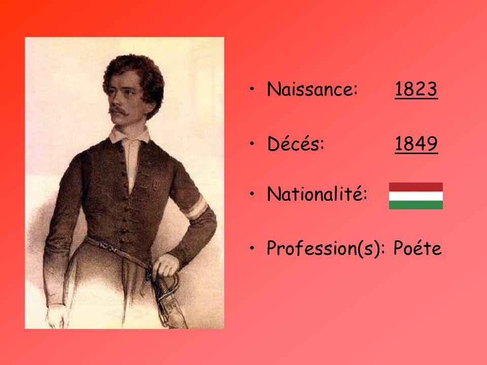 Naissance:1823 Décés:1849 Nationalité: Profession(s): Poéte
