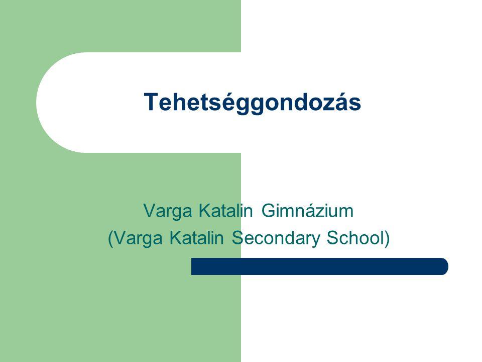Tehetséggondozás Varga Katalin Gimnázium (Varga Katalin Secondary School)
