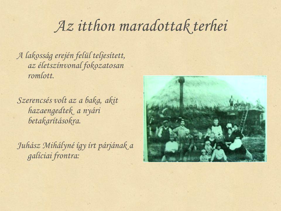 Kurucz Ferenc levele feleségéhez, 1916.