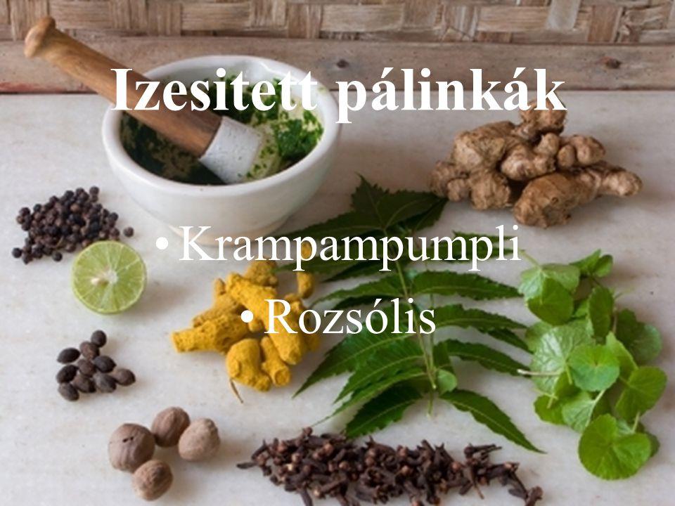 Izesitett pálinkák Krampampumpli Rozsólis