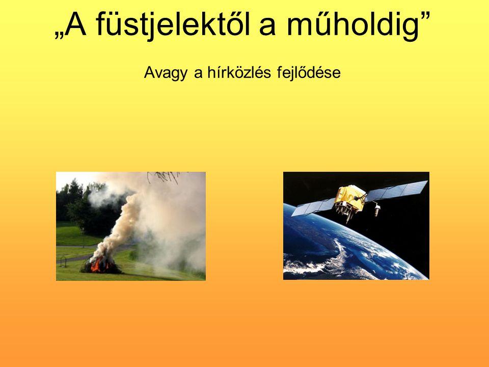 """""""A füstjelektől a műholdig"""" Avagy a hírközlés fejlődése"""