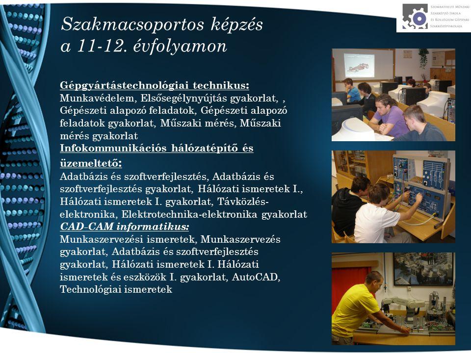 Szakmacsoportos képzés a 11-12.