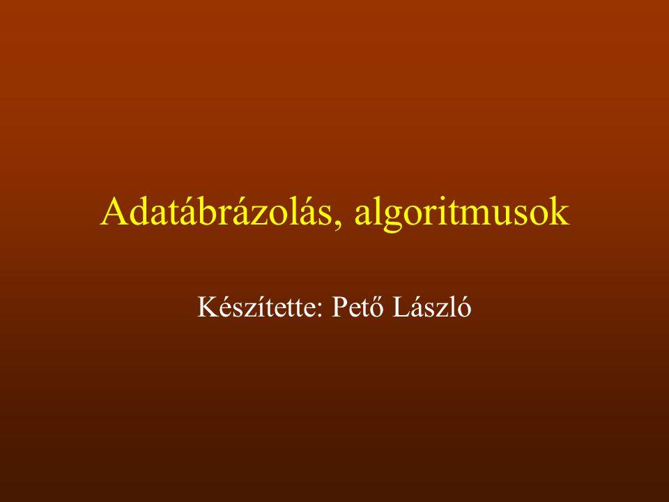 Törtek ábrázolása Fixpontos (A kettedespont helye fix) Lebegőpontos (kettes számrendszerbeli normálalak)