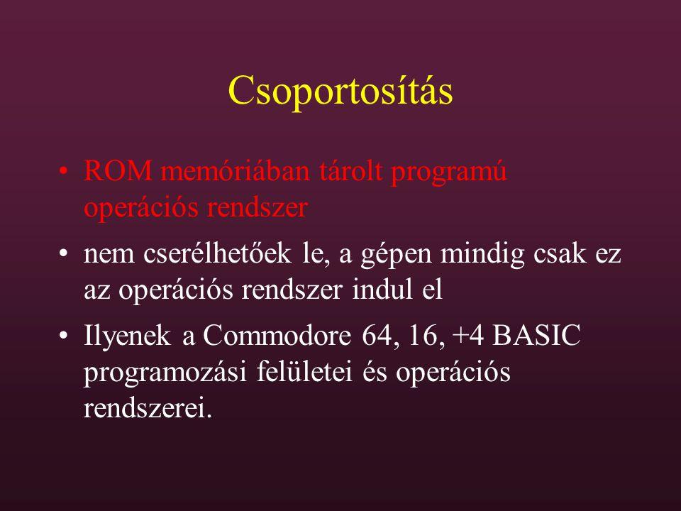 DISKCOPY DISKCOPY (forrás:) (cél:) (/l) (/v) (/m) teljes lemez másolása, szektorról szektorra (hibás szektorokat is!) csak azonos formátumú lemezek között lemezcserére figyelmeztet /l - csak az első oldalt /v - másolás ellenőrzéssel