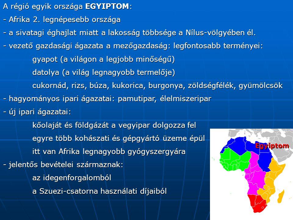 A régió egyik országa EGYIPTOM: - Afrika 2.