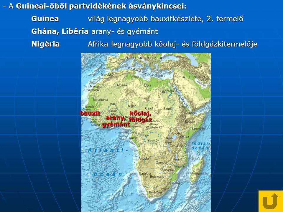 - A Guineai-öböl partvidékének ásványkincsei: Guineavilág legnagyobb bauxitkészlete, 2.