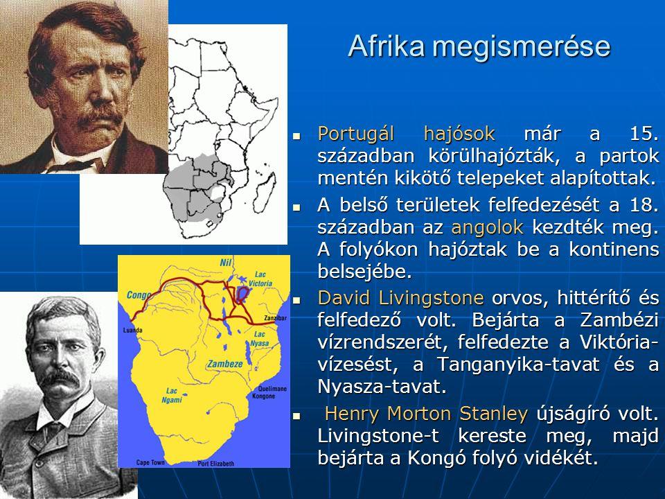 Afrika megismerése Portugál hajósok már a 15.