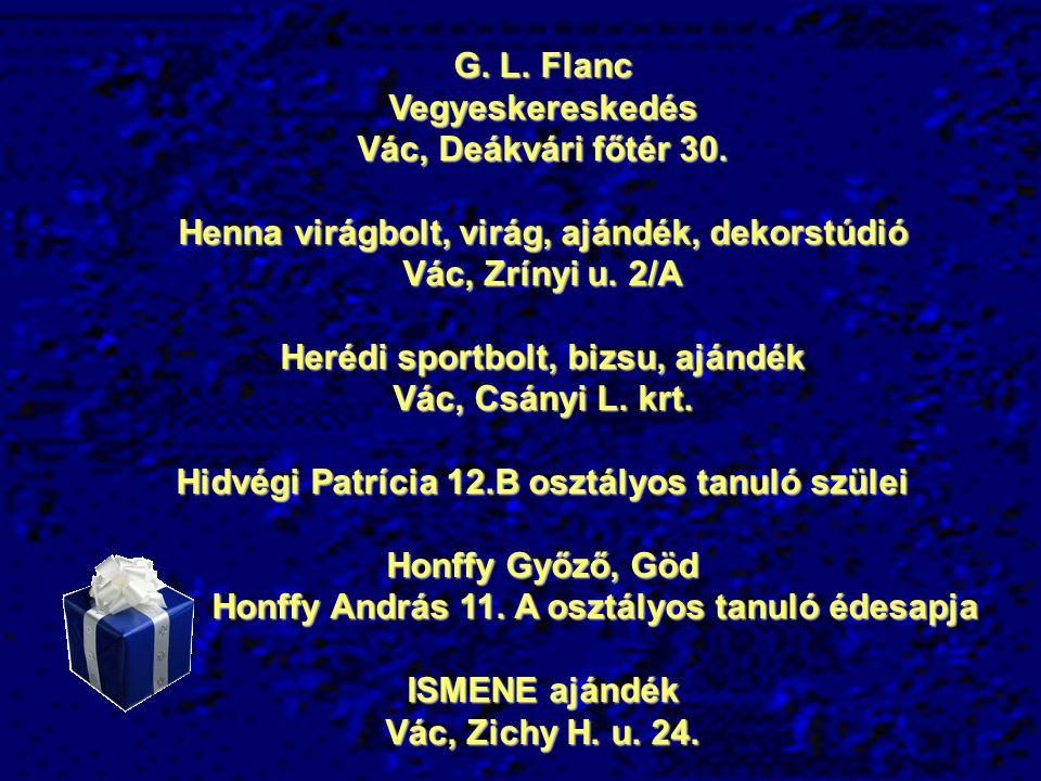 G.L. Flanc Vegyeskereskedés Vác, Deákvári főtér 30.