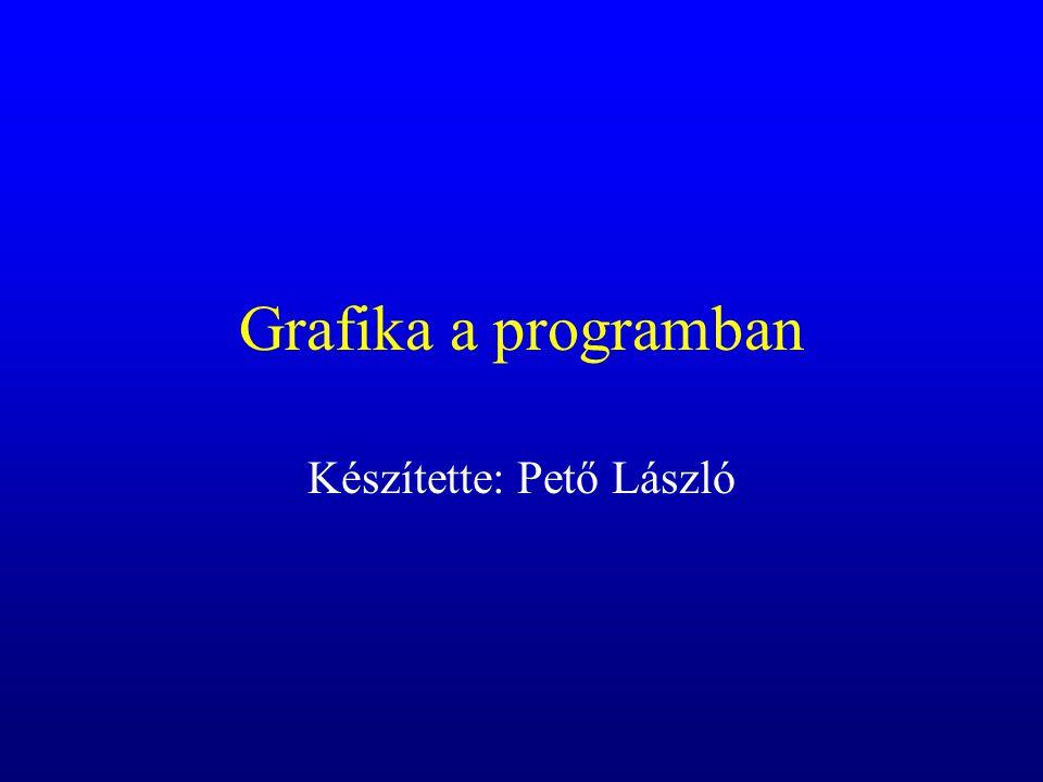 Grafika a programban Készítette: Pető László