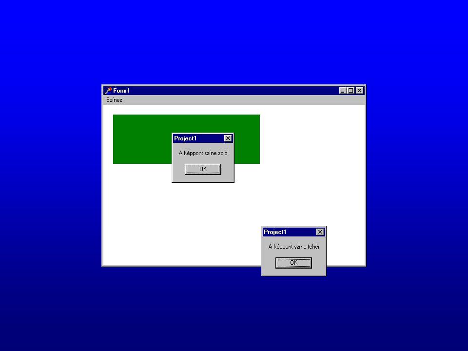 A vonalvastagság beállítása procedure TForm1.ScrollBar1Change(Sender: TObject); begin canvas.pen.Width:=scrollbar1.Position; label1.Caption:= inttostr(scrollbar1.position); end; Megjegyzés: A vonalstílus csak 1-es vonalméret esetén használható