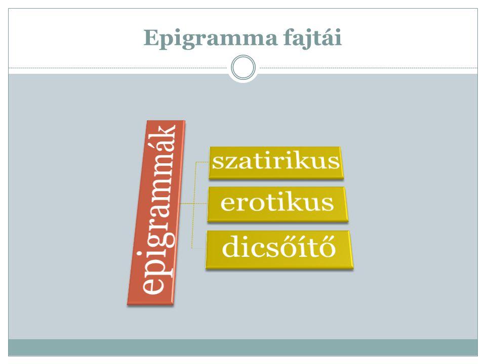 Epigramma fajtái