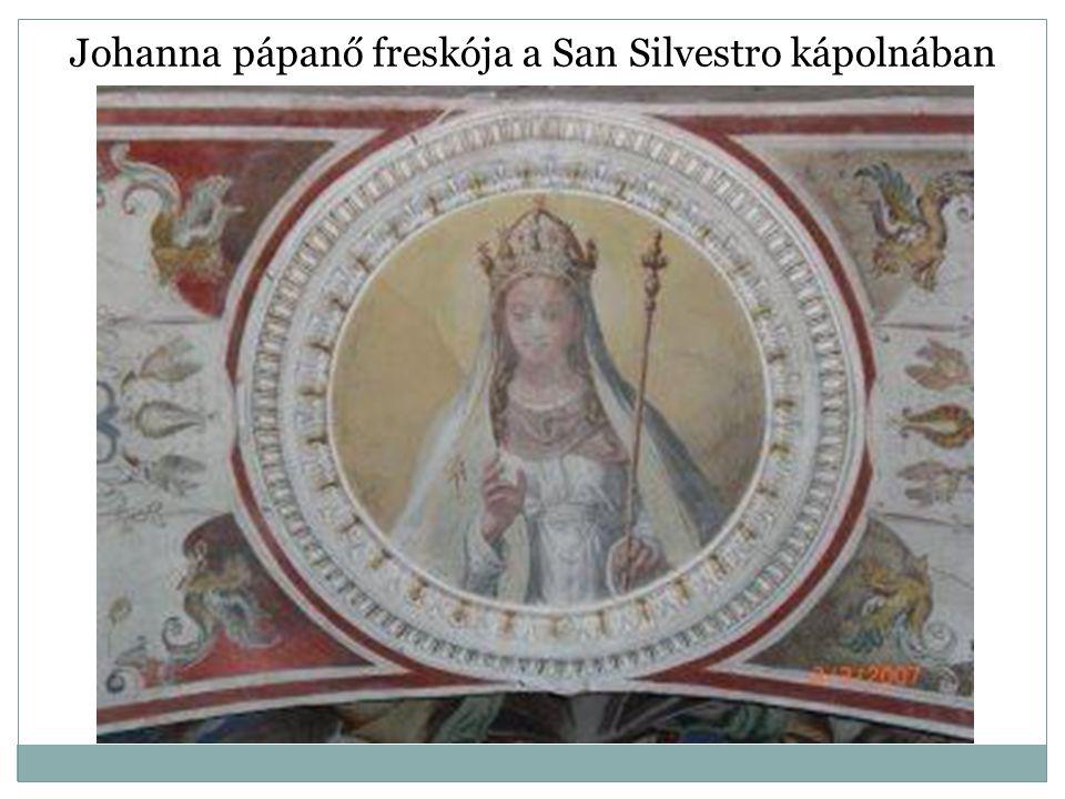 Johanna pápanő freskója a San Silvestro kápolnában