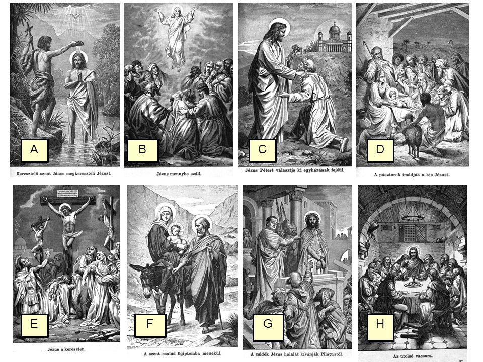 Csoportosítsd az eseményeket ÓszövetségÚjszövetség 1.Mózes születése 2.