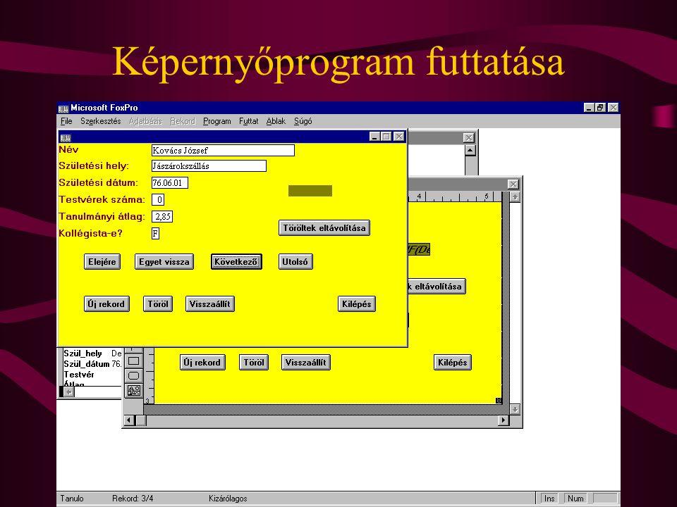Képernyőprogram futtatása