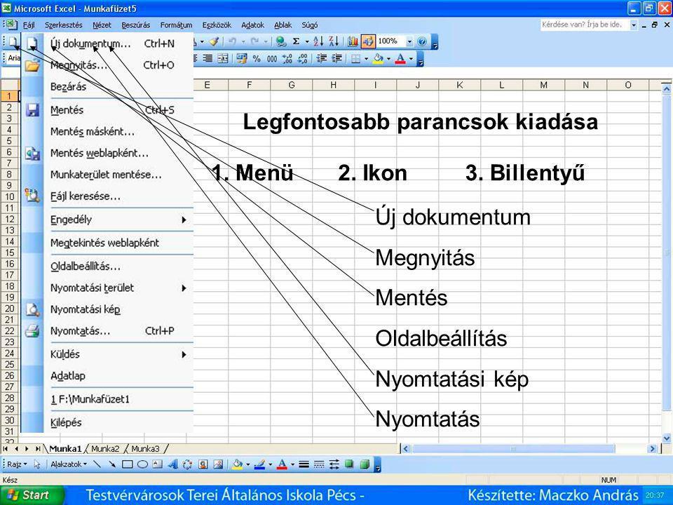 Microsoft Office Excel - táblázatkezelő 8.