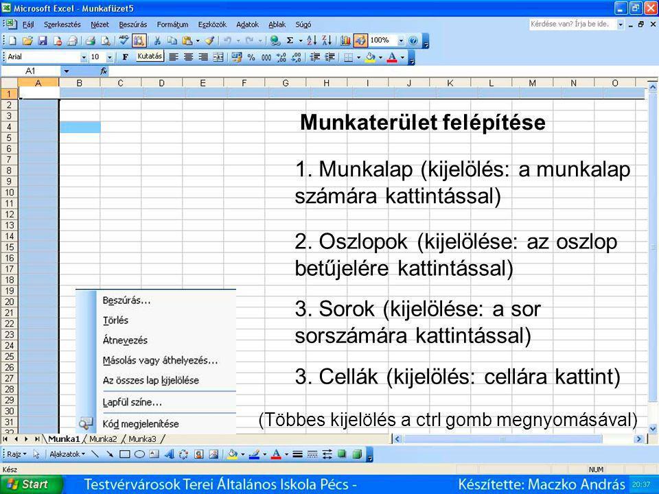 Microsoft Office Excel - táblázatkezelő 3.