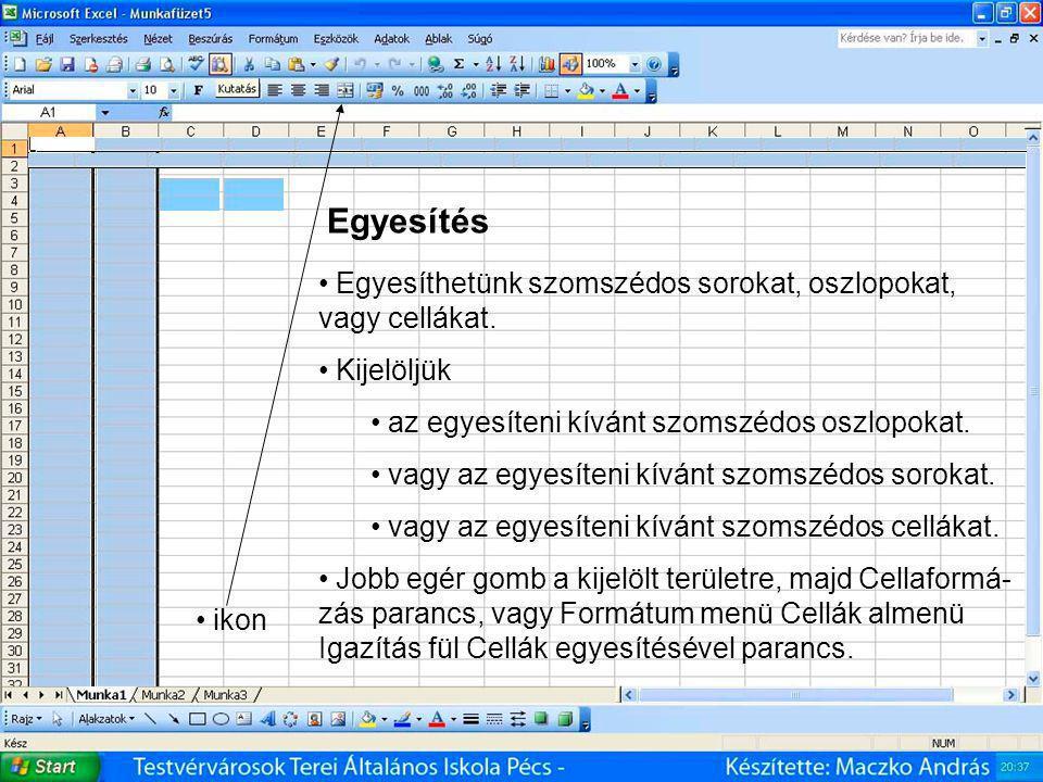 Microsoft Office Excel - táblázatkezelő 4.