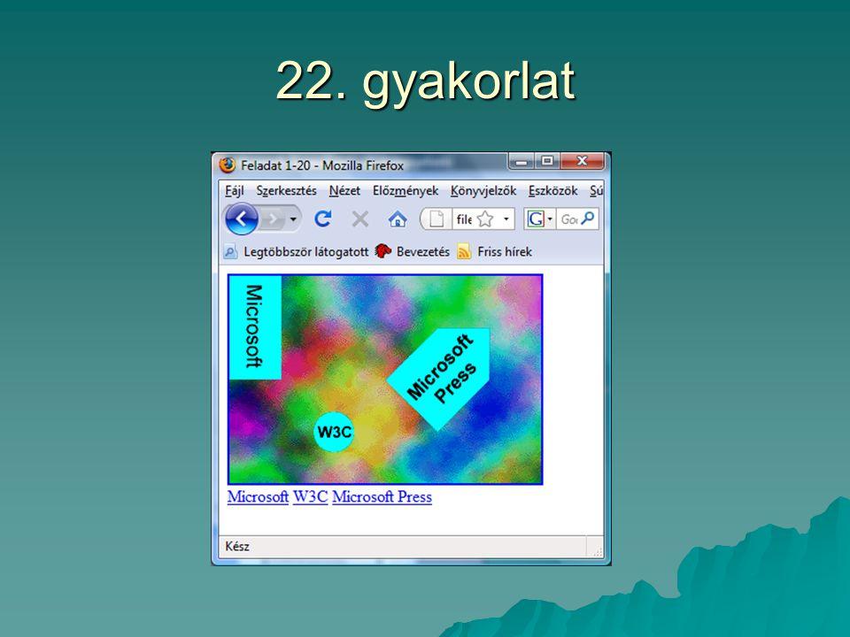 22. gyakorlat