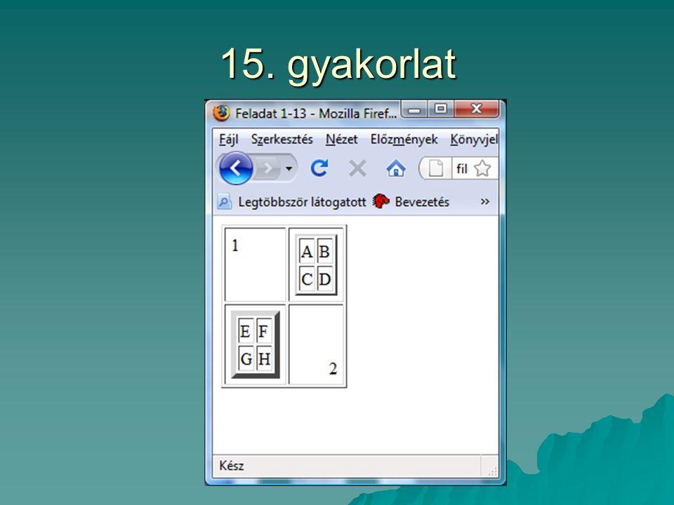 15. gyakorlat