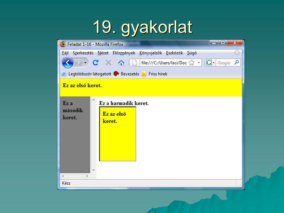 19. gyakorlat