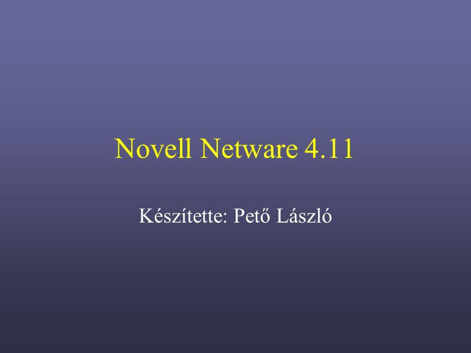 Novell Netware 4.11 Készítette: Pető László