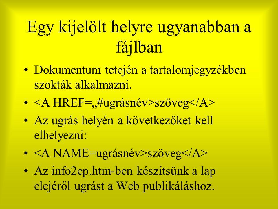 Egy kijelölt helyre ugyanabban a fájlban Dokumentum tetején a tartalomjegyzékben szokták alkalmazni.