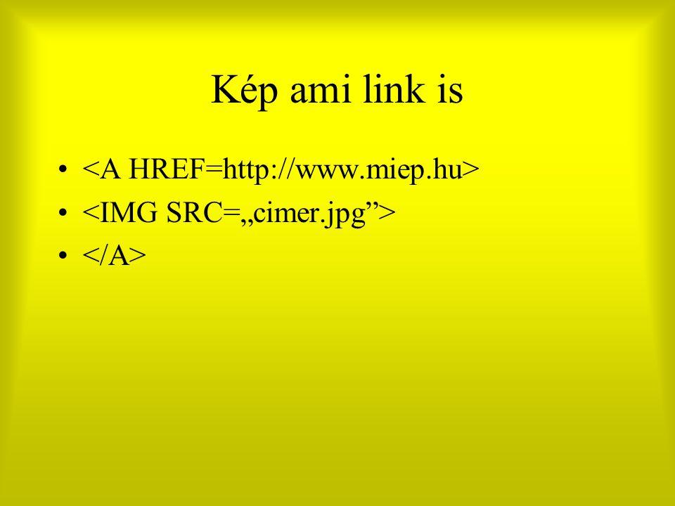Kép ami link is