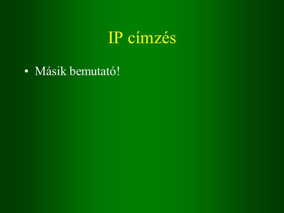 IP címzés Másik bemutató!