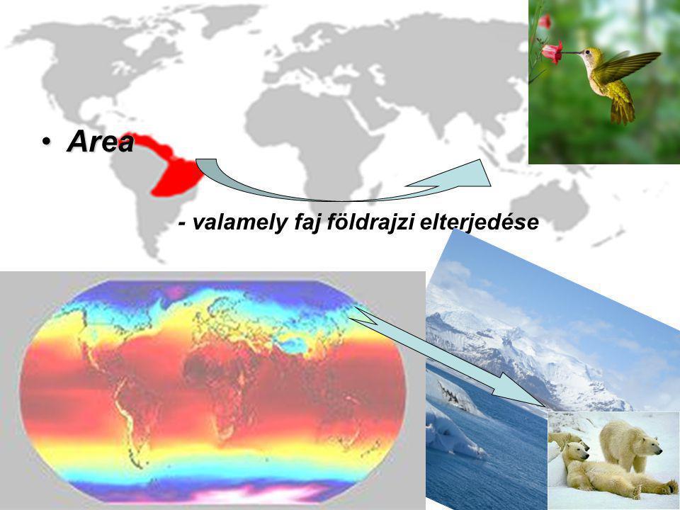 AreaArea - valamely faj földrajzi elterjedése