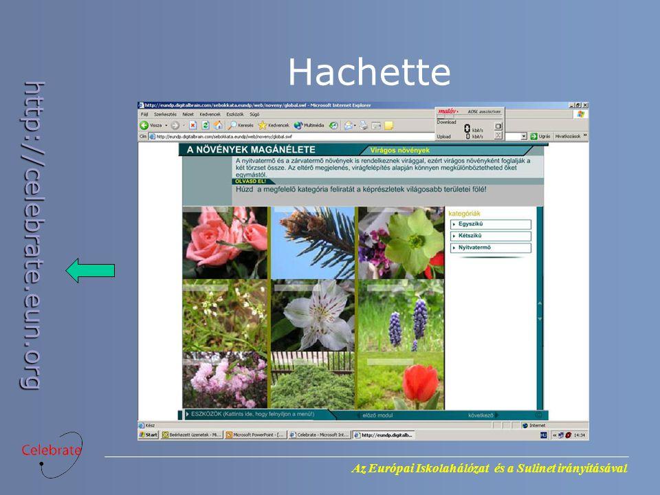 Az Európai Iskolahálózat és a Sulinet irányításával http://celebrate.eun.org Hachette