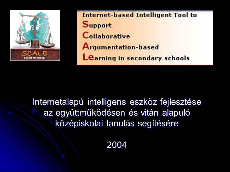 Internetalapú intelligens eszköz fejlesztése az együttműködésen és vitán alapuló középiskolai tanulás segítésére 2004