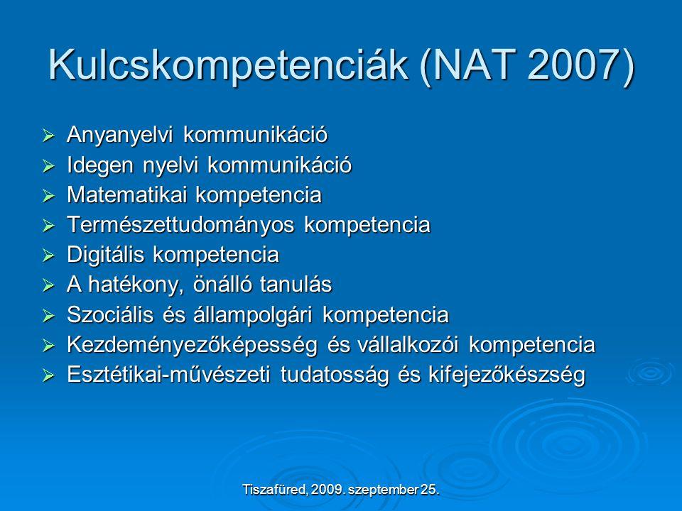 Tiszafüred, 2009. szeptember 25. MOST ÉPPEN TÁMOP 3.1.4