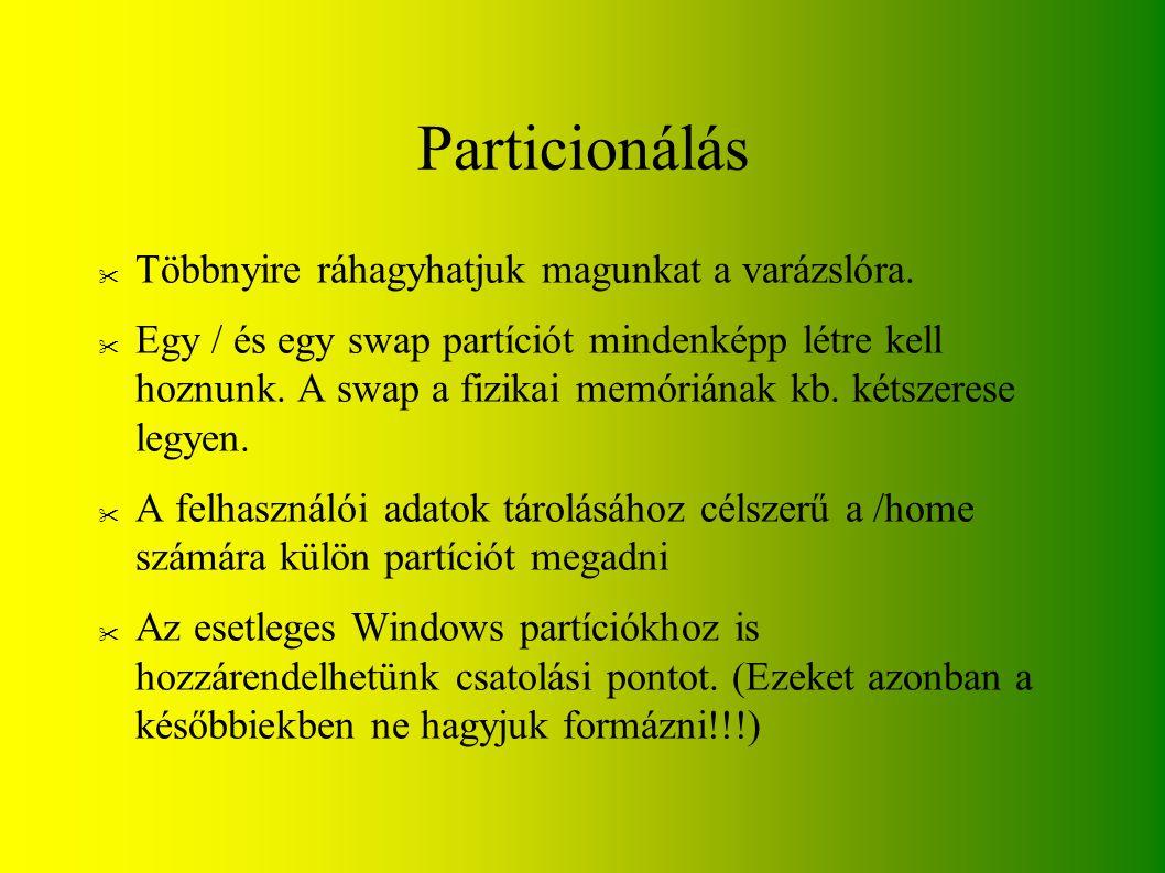 Particionálás