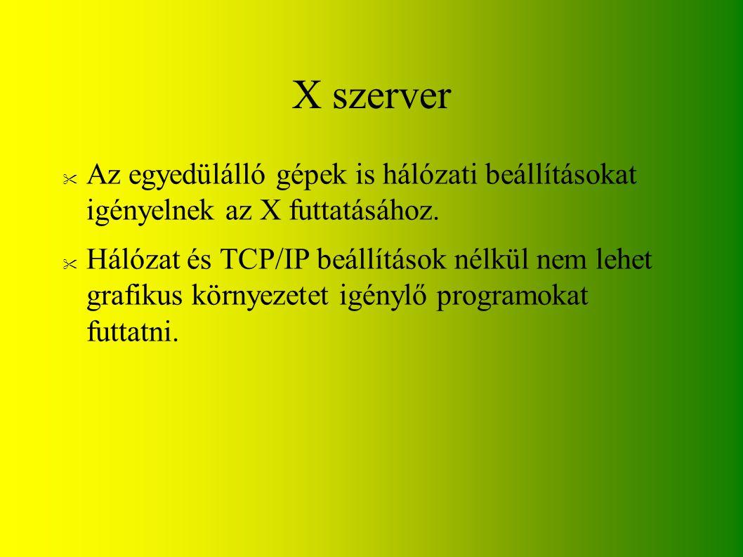 X szerver