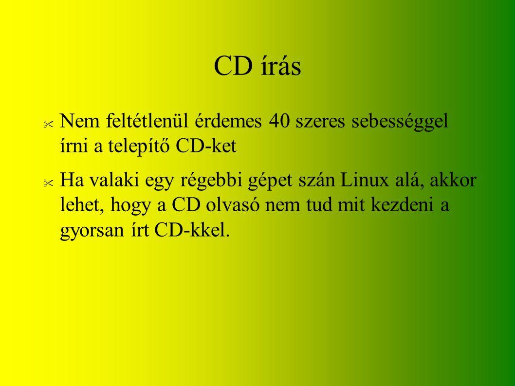 CD írás