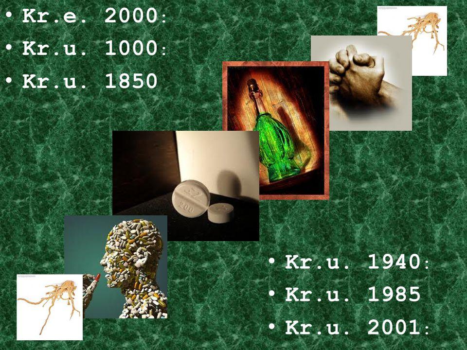 Kr.e. 2000 : Kr.u. 1000 : Kr.u. 1850 Kr.u. 1940 : Kr.u. 1985 Kr.u. 2001 :