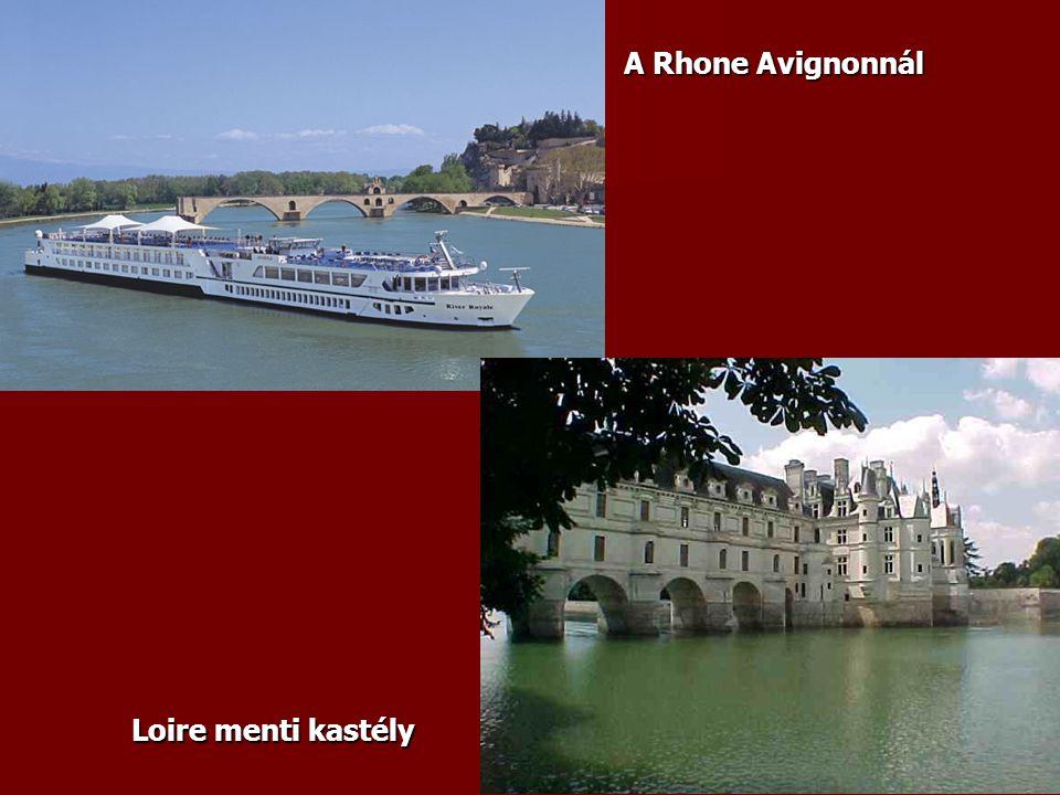 A Rhone Avignonnál Loire menti kastély