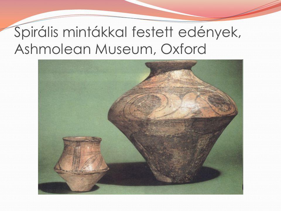 Spirális mintákkal festett edények, Ashmolean Museum, Oxford