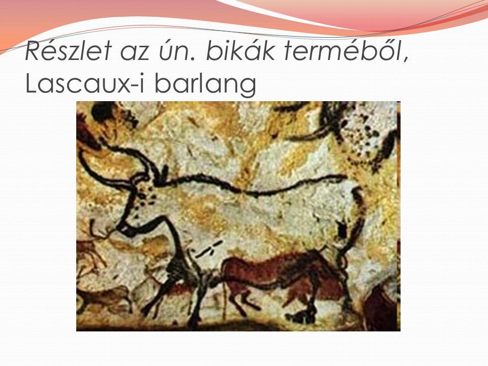 Részlet az ún. bikák terméből, Lascaux-i barlang