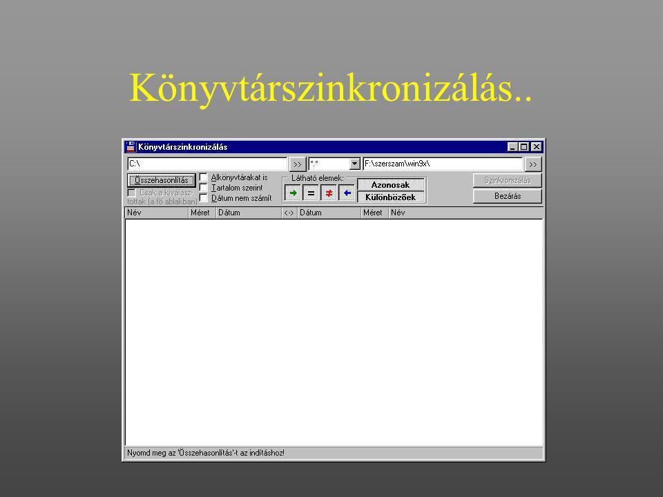 Könyvtárszinkronizálás..