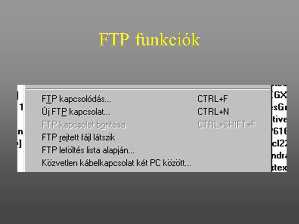 FTP funkciók
