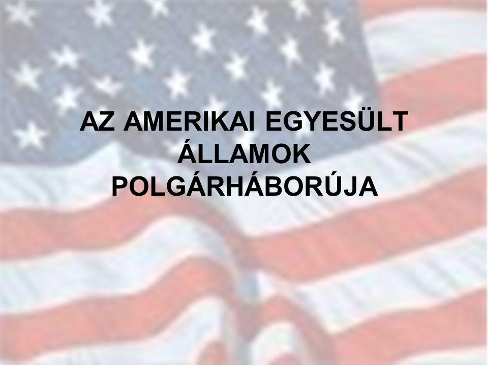AZ AMERIKAI EGYESÜLT ÁLLAMOK POLGÁRHÁBORÚJA