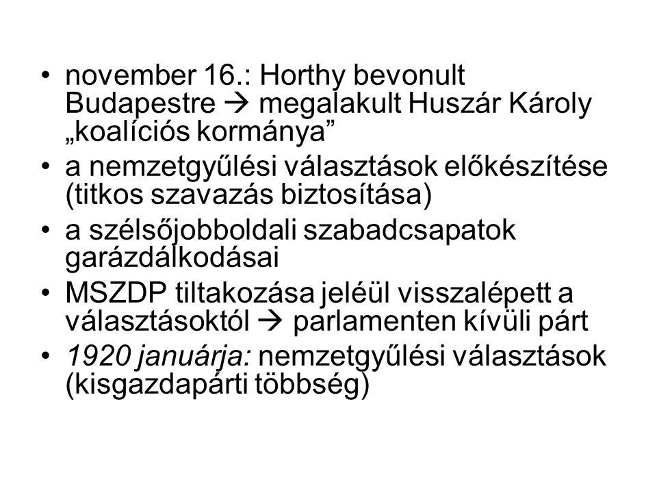 Horthy bevonulása Budapestre