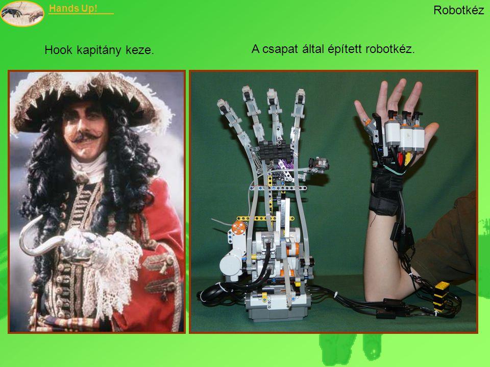 Hands Up! Robotkéz Hook kapitány keze. A csapat által épített robotkéz.