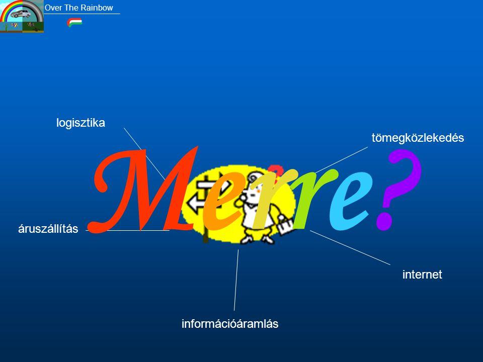 tömegközlekedés logisztika áruszállítás információáramlás internet Merre?Merre? Over The Rainbow