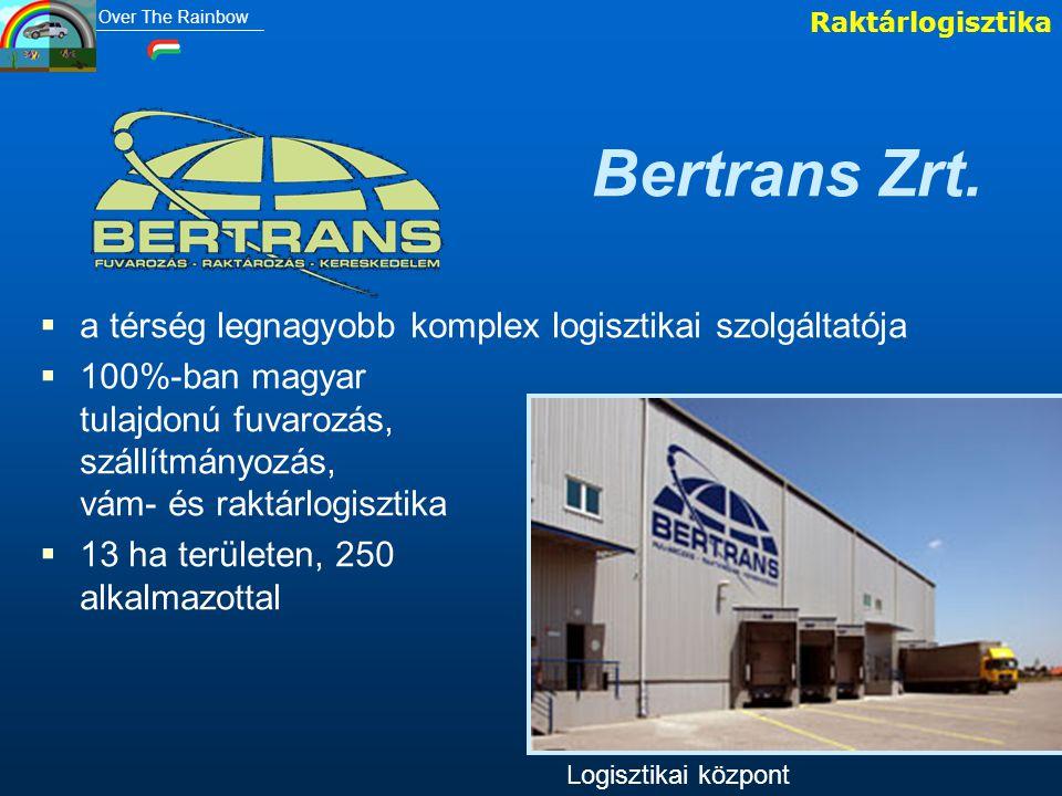 Bertrans Zrt.   a térség legnagyobb komplex logisztikai szolgáltatója   100%-ban magyar tulajdonú fuvarozás, szállítmányozás, vám- és raktárlogisz