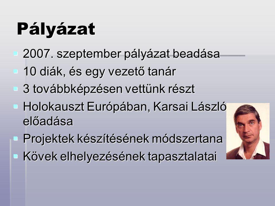 Pályázat  2007.