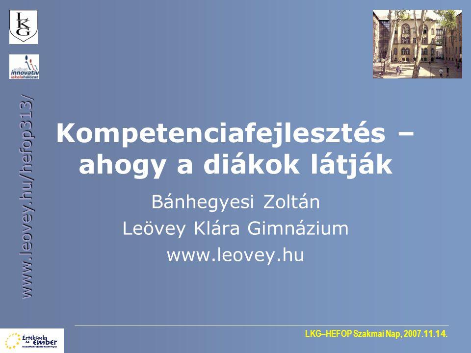 LKG–HEFOP Szakmai Nap, 2007. 11. 14.
