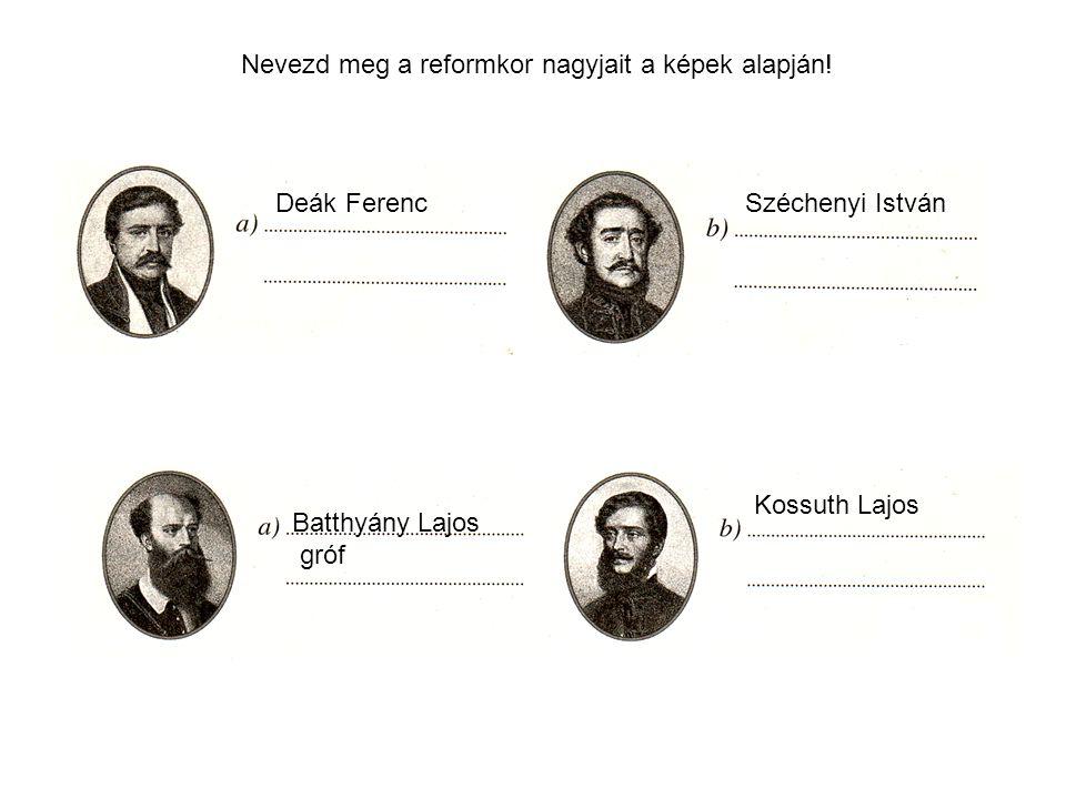 Évszámok Reformkor (1820-as évek végétől 1848-ig), Hitel megjelenése (1831), Védegylet létrehozása (1844), Pest-Vác vasútvonal megnyitása (1846), bécsi forradalom (1848.március 13.), pesti forradalom (1848.